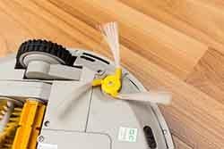 Robotic vacuum cleaner - Part side dust brush.
