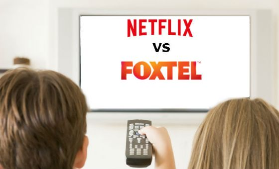 watching netflix and foxtel