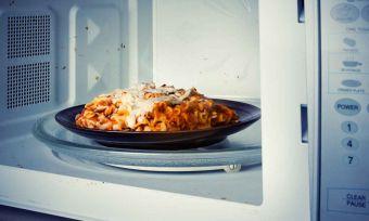 Microwaved Lasagna