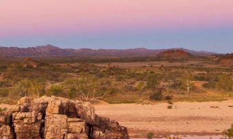 Sunset in the outback.