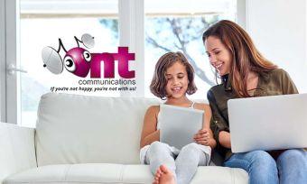 family using internet