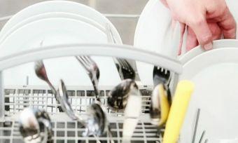 stacked dishwasher