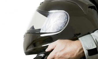 Motorbike helmet road safety