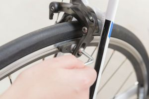 bicycle brakes close up
