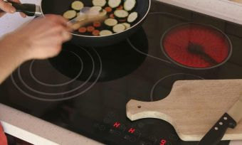 pan on electric cooktop