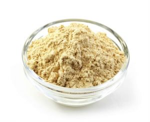 bowl of maca powder