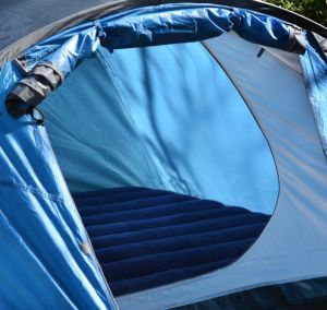 sleeping mattress inside tent