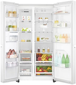 LG 687L Side by Side Fridge with 3 Star Energy Rating GS-B680WL