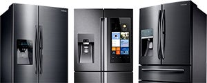 Trio of Samsung Fridges