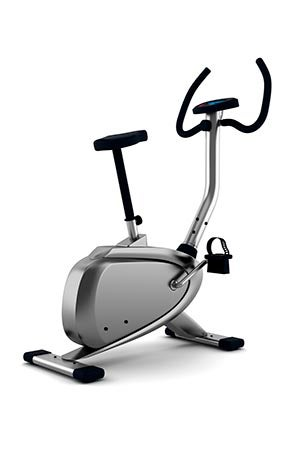 exercise bicycle isolated on white background