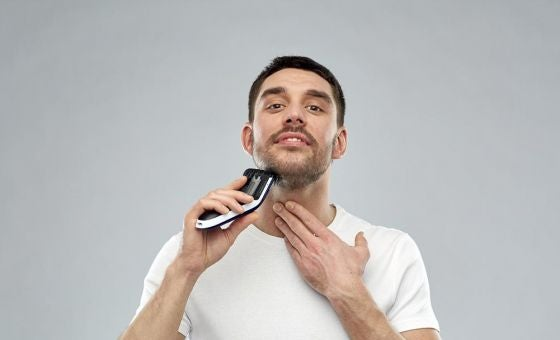 shaving beard with trimmer