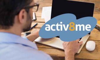 activ8me logo stock