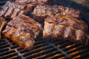 smoked pork on bbq