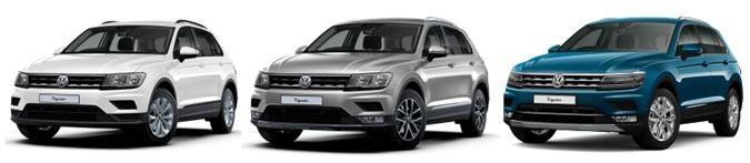 VW Tiguan range