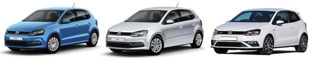 VW polo range of vehicles