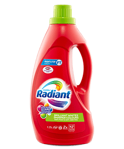 radiant sharper colours range laundry detergent