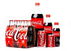 Group of Coca-Cola products