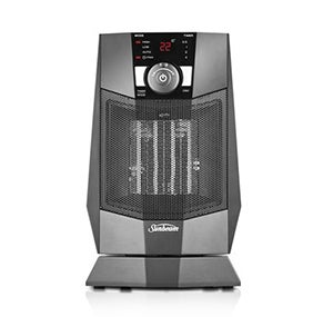 sunbeam he2125 compact oscillating ceramic fan heater