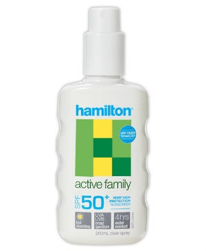 hamilton active family spf 50+