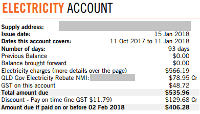 Electricity Account