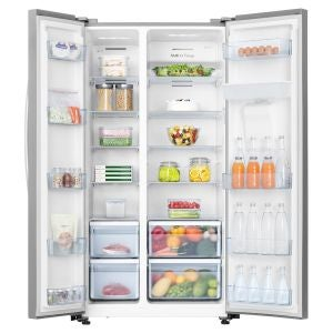 Cheapest side by side fridge prices Hisense 624L Side by Side Fridge Freezer review compared