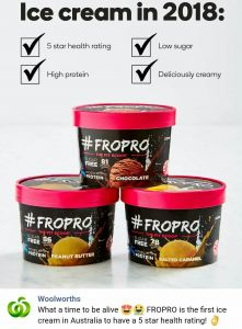 Woolworths Introduces Ice Cream With 5 Star Health Rating