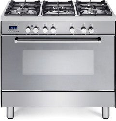 DeLonghi DEF905GW1X1 Freestanding oven with gas cooktop and wok burner