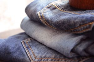 Jeans and denim wash cycles