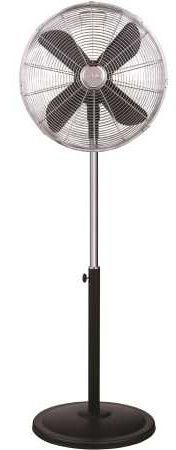 Fenici FVS4A40BCR 40cm Retro Pedestal Fan Charcoal