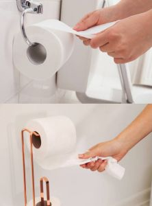 Should toilet paper roll over or roll under