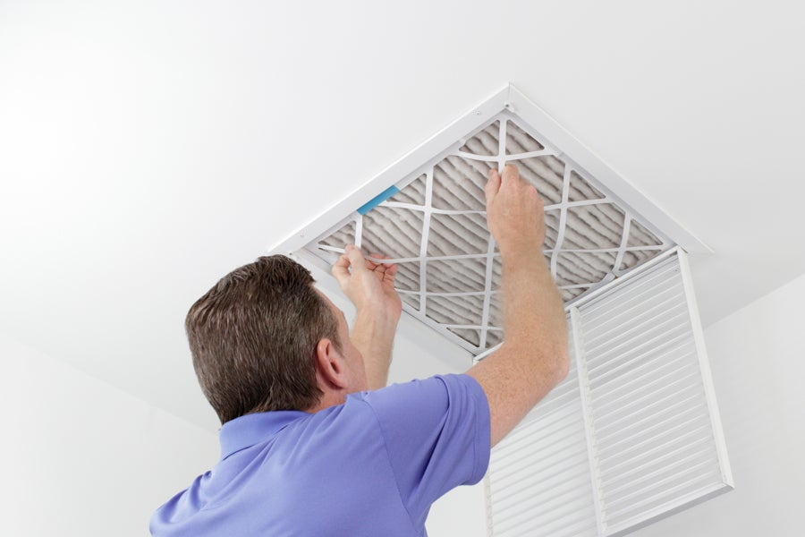 Ceiling vents Cleaning