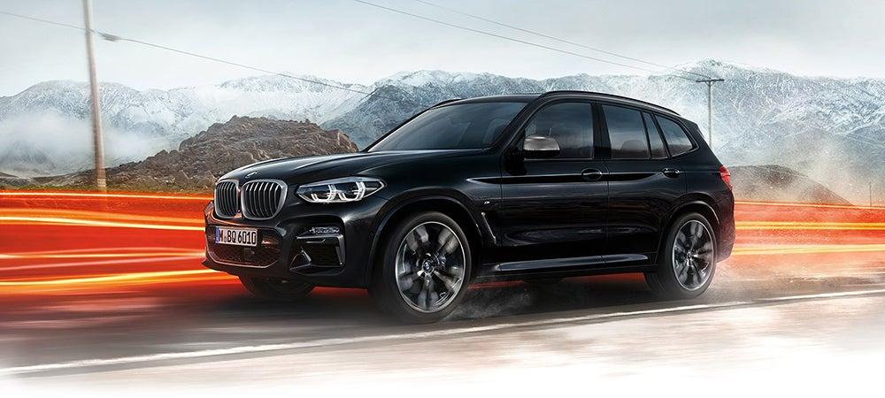 BMW X3 Snowy Brakelights