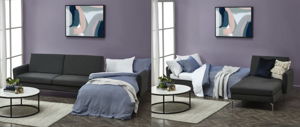 Purple- Grey-Couch