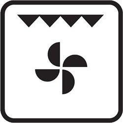Fan Forced Grill Symbol