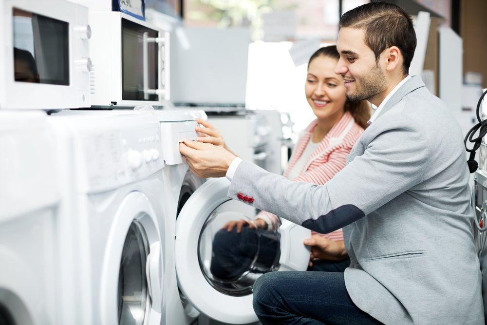 couple washing machine
