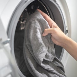Washing machine residue