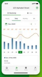 EnergyAustralia app on Apple device