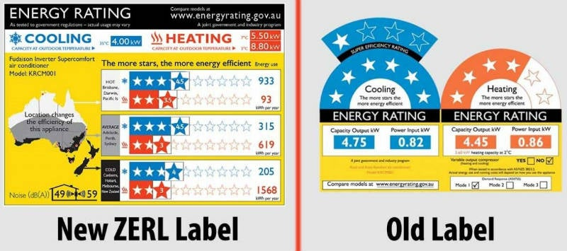 New Aircon efficiency ratings