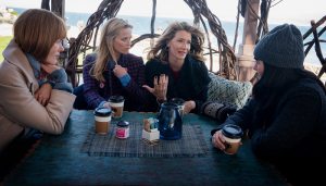 Characters From Big Little Lies Season 2 Drinking Coffee