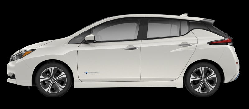 NIssan Leaf in Ivory White