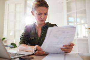 women reading bill