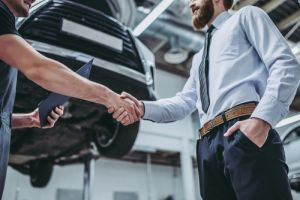car deal handshake