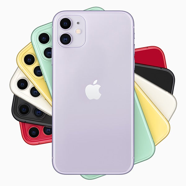 Apple's iPhone 11 in six colours