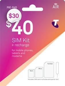 Telstra Pre-Paid SIM Kit