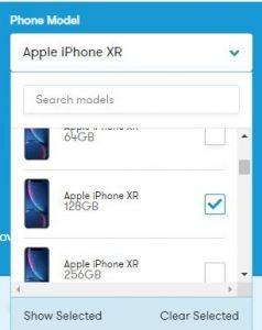 Phone comparison tool