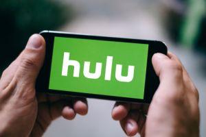 Closeup of Hulu logo