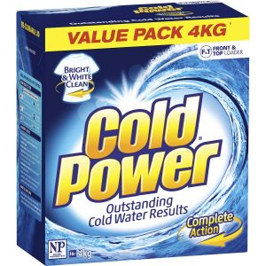 cold power laundry powder