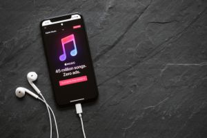 Apple Music streaming service website