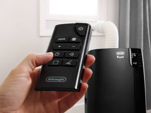 Remote control on portable air con