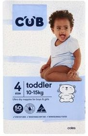 coles cub nappies